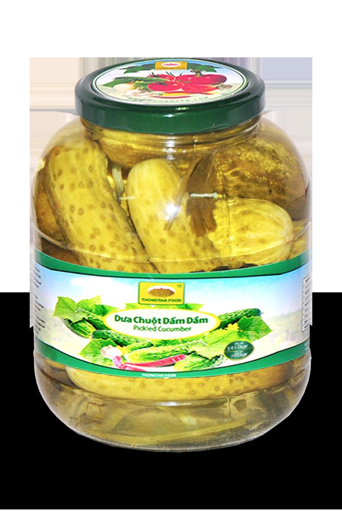 Pickled cucumber in jar 1500ml