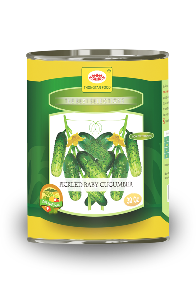 Pickled cucumber in can 30 oz
