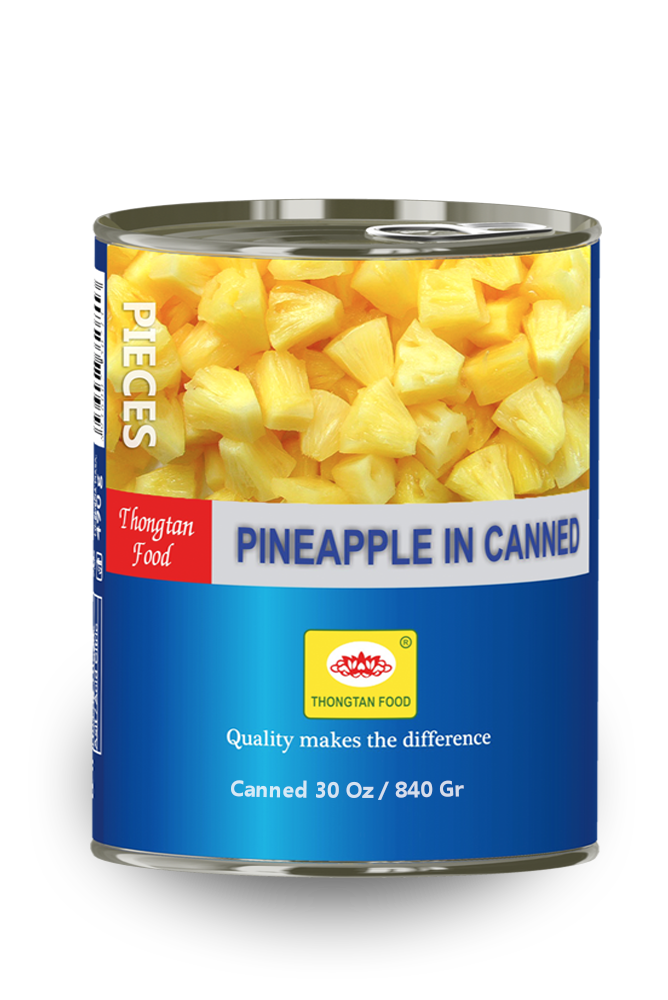 Pineapple pieces in can 30 Oz