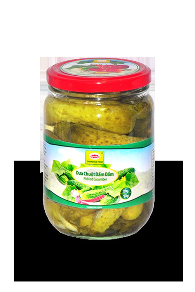 Pickled cucumber in jar 380ml