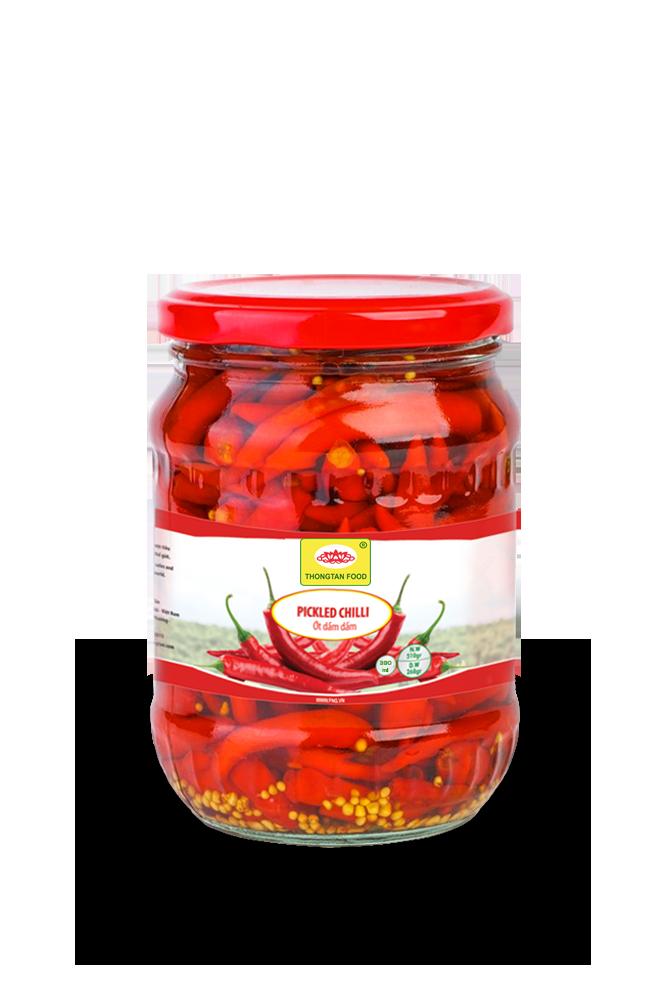 Pickled hot chilli in jar (380ml; 540ml; 720ml)