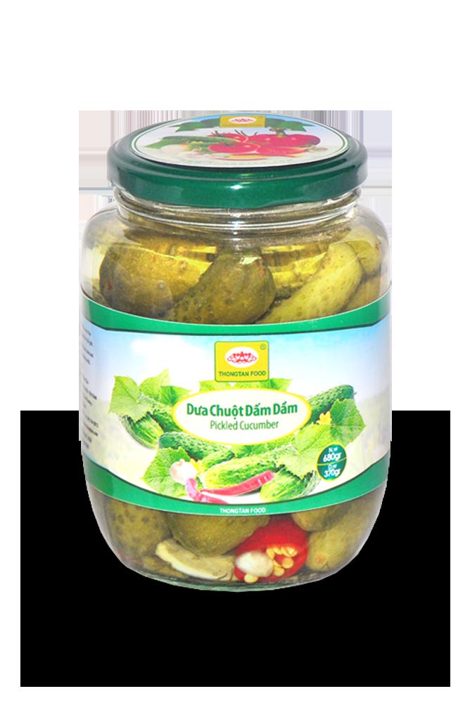 Pickled cucumber in jar 540ml