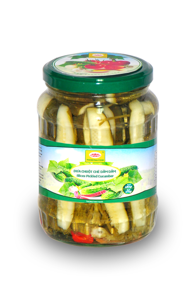 Pickled cucumber Cutting 1/4 in jar ®