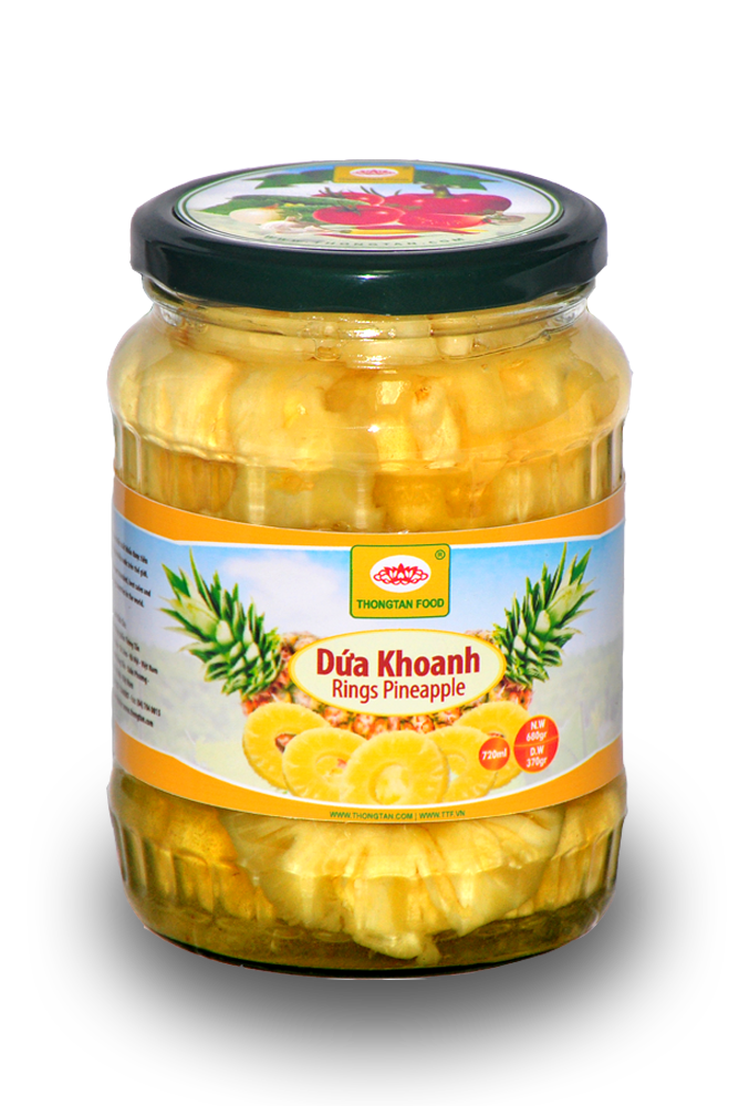 Pineapple Slices in Jar