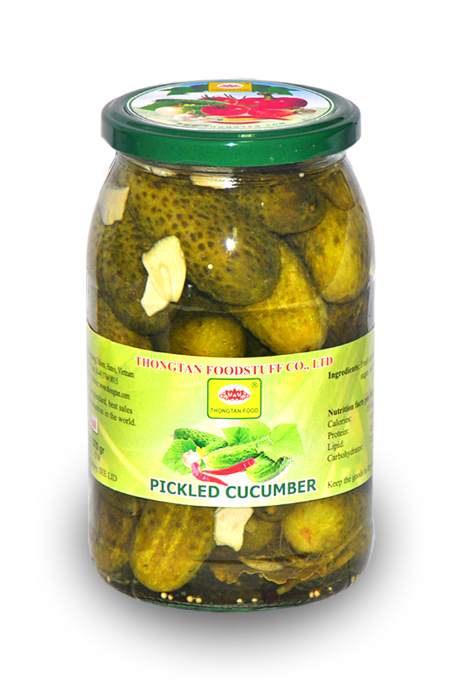 Pickled cucumber in jar 900ml