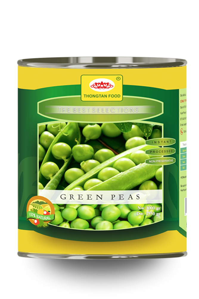 Green peas in canned A10/3Kgs
