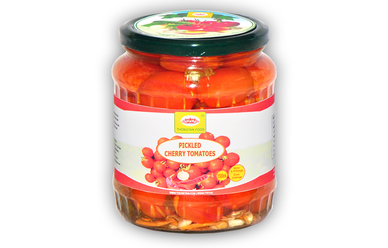Pickled cherry tomatoes in jar 1500ml
