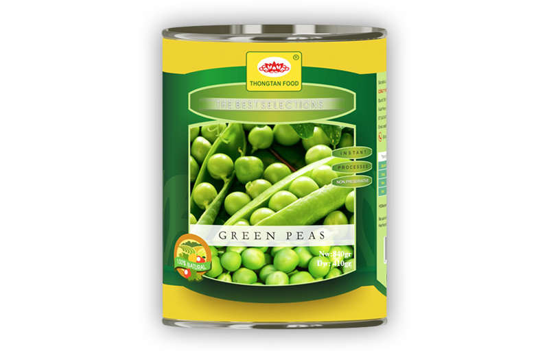Green peas in canned 30 Oz