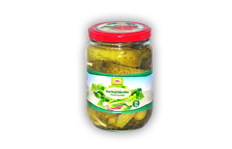 Pickled cucumber in jar 380ml