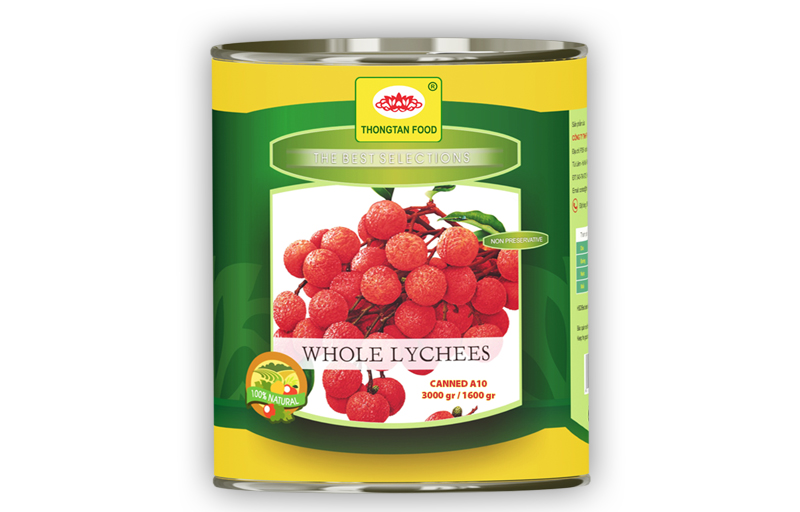 Lychees in syrup in can A10/3Kg