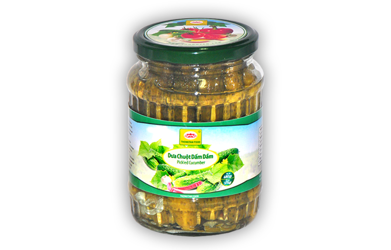 Pickled cucumber in jar 720ml