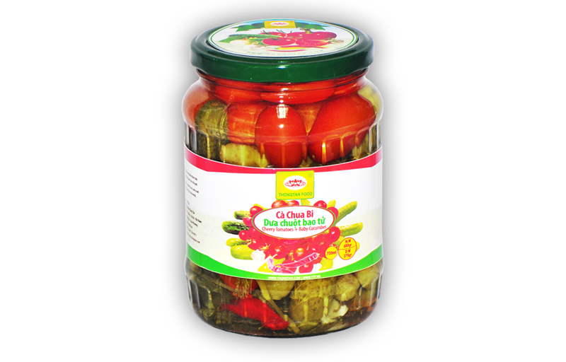 Assorted pickled in jar 720ml