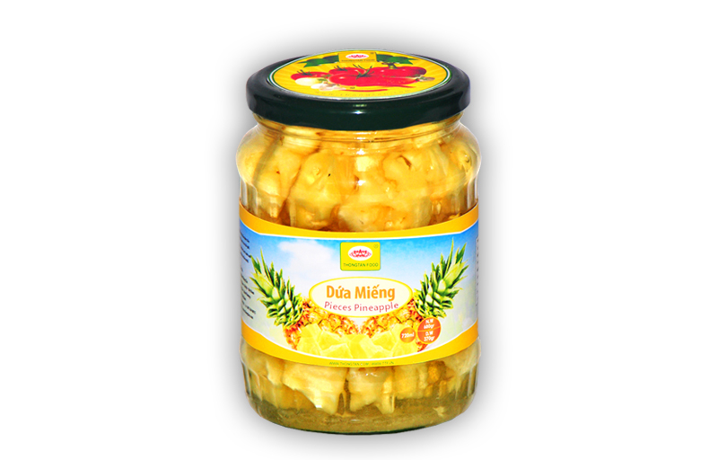 Pineapple Pieces in Jar