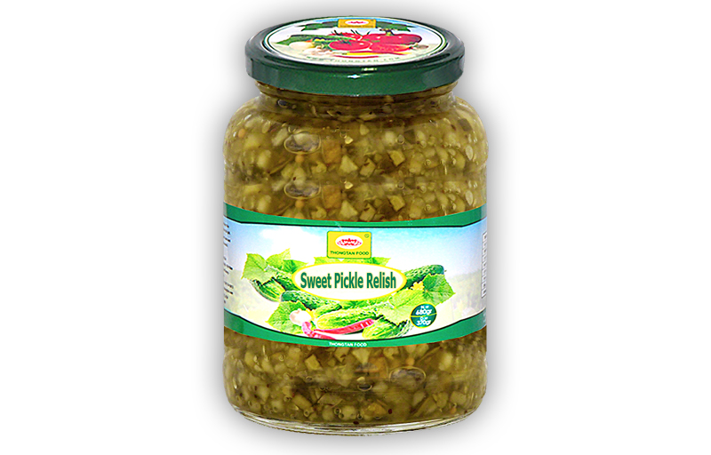 Sweet Pickle Relish in Jar