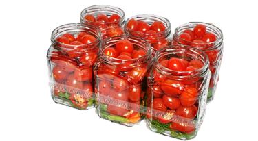 Cà chua bi (chế biến) / các cỡ lọ/lon