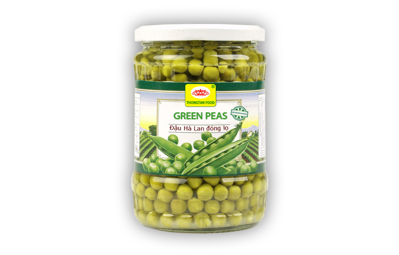 Green peas in jar (380ml; 540ml; 720ml)